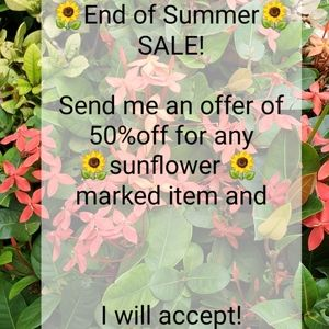 🌻EOS TAKE 50% OFF SALE! 🌻 END OF SUMMER SALE! 🌻
